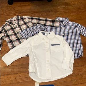 Lot of 3 button-down collar shirts 12M-18M